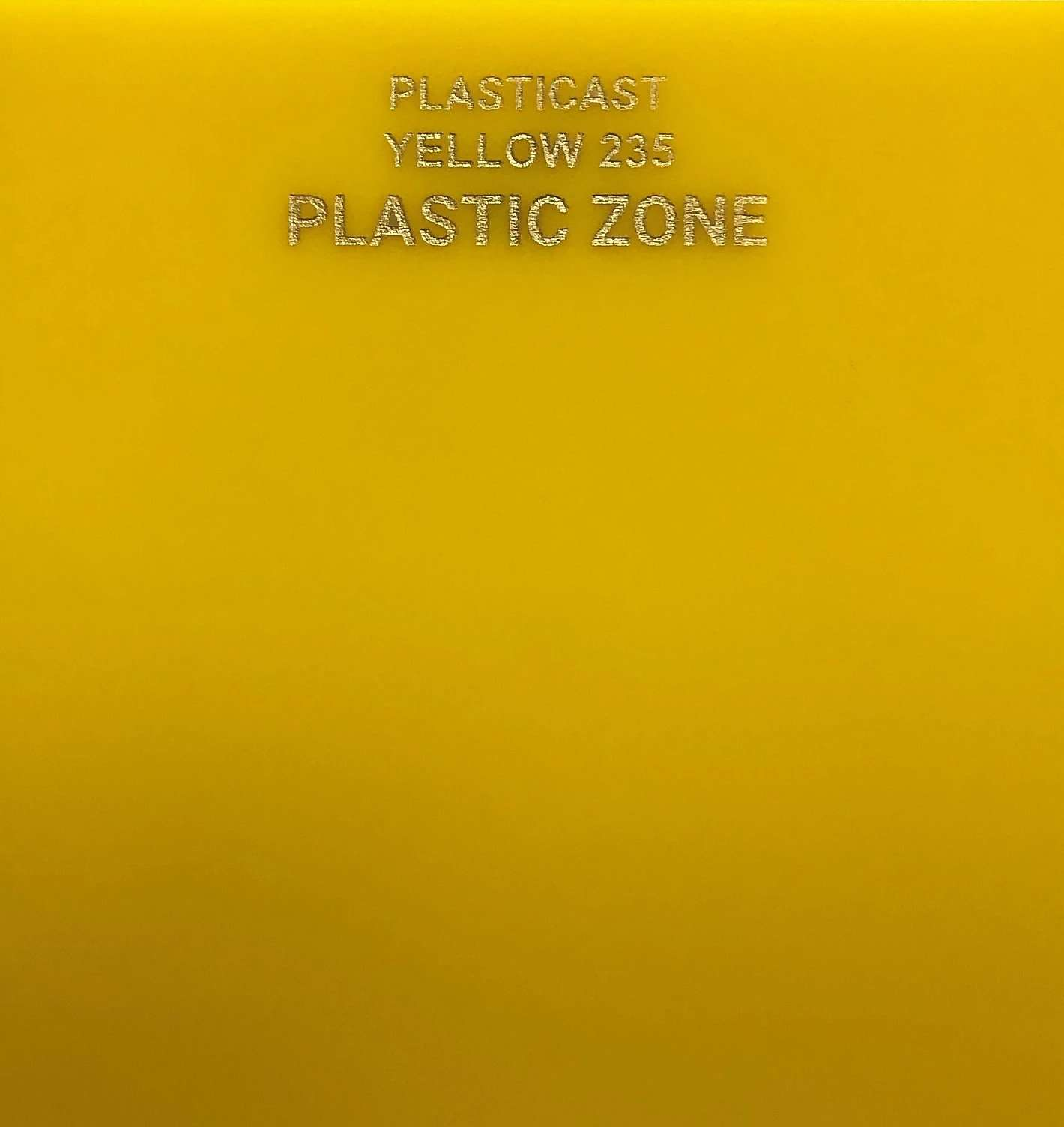 Yellow acrylic sheet 235