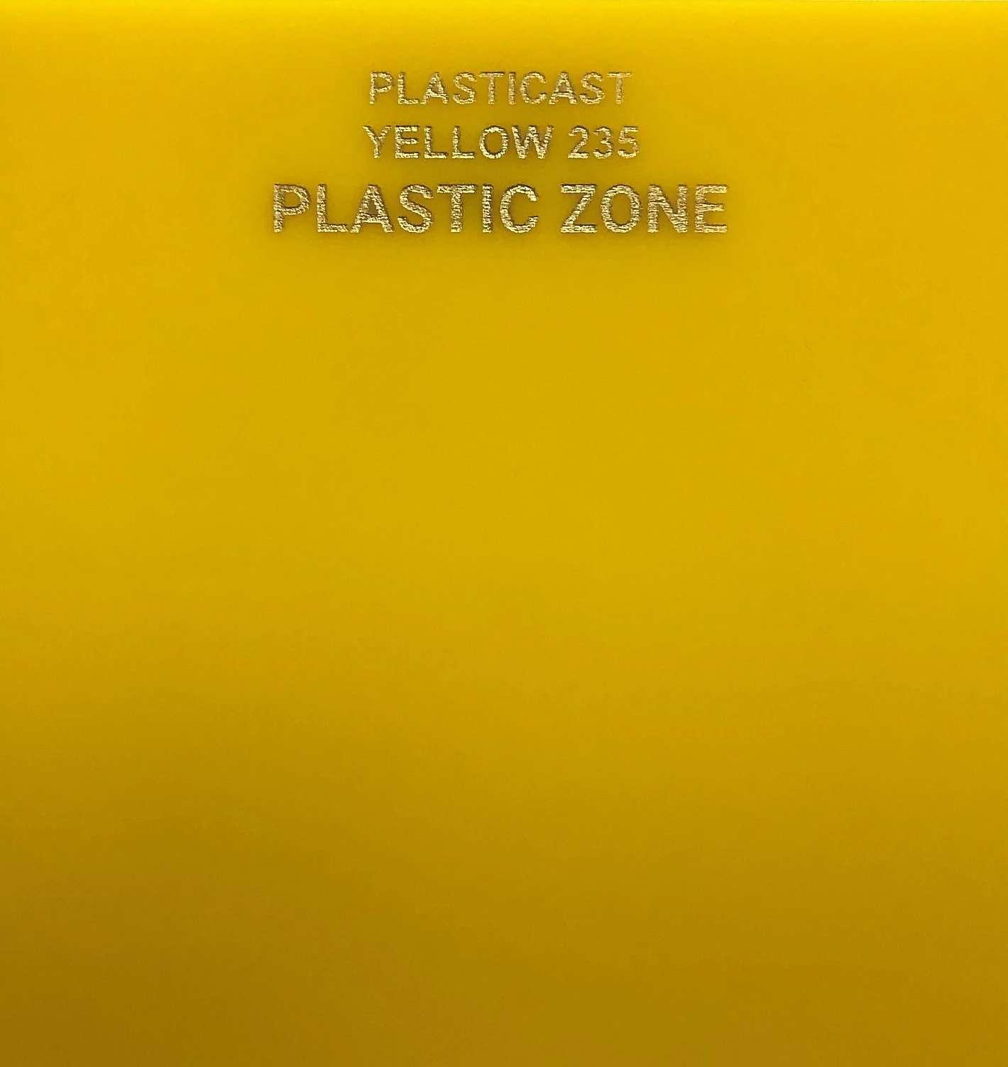 Yellow acrylic sheet 235