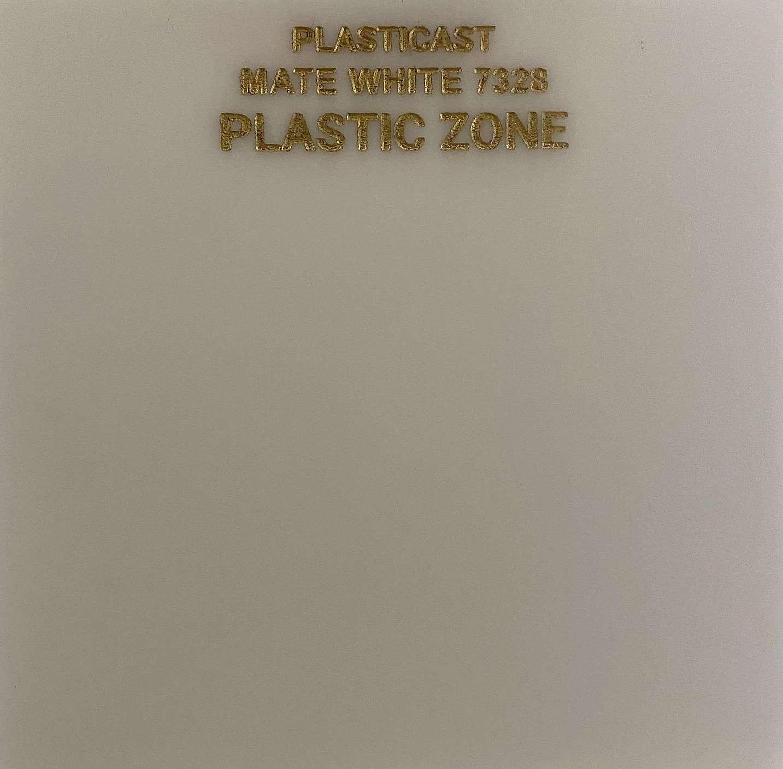 Matte white acrylic sheet 7328